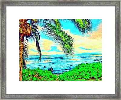 Poipu Sunrise Framed Print