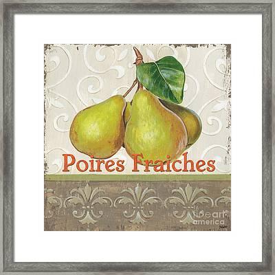 Poires Fraiches Framed Print by Debbie DeWitt