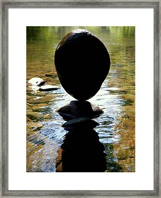Poise Framed Print by Peter Mooyman