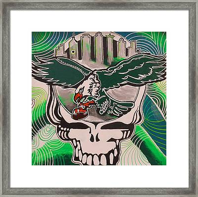 Poised For Flight Wings Spread Bright Framed Print