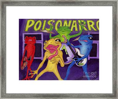 Poison-arrow Frog Band Framed Print by Samantha Geernaert