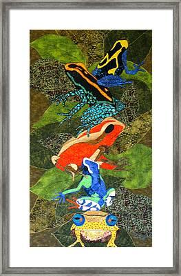 Poison Dart Frogs Framed Print by Lynda K Boardman