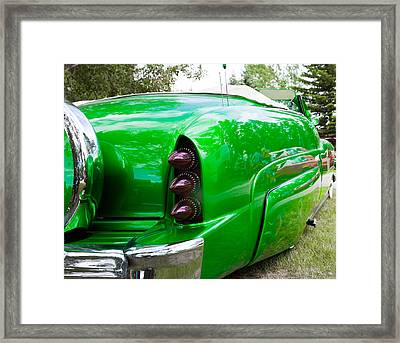 Framed Print featuring the photograph Poison Ivy Green Custom Car by Mick Flynn