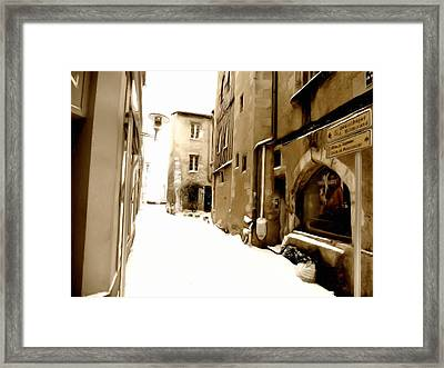 Poitiers With Snow Framed Print by Studio Maeva