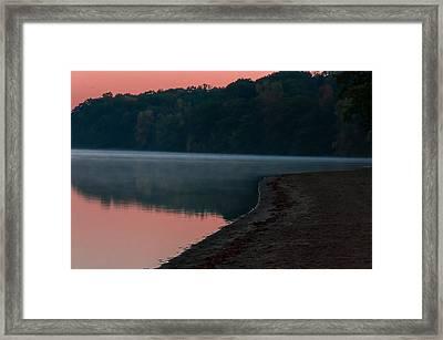 Pokagon State Park Beach Framed Print by Gene Sherrill