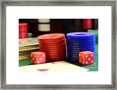 Poker Chips Framed Print by Paul Ward