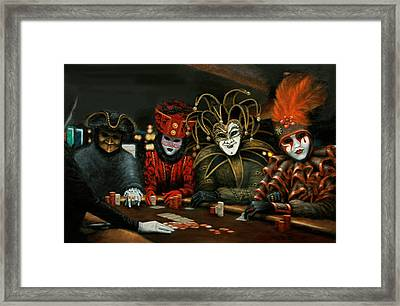 Framed Print featuring the painting Poker Face IIi by Jason Marsh