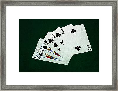 Poker Hands - Flush 3 Framed Print