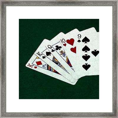 Poker Hands - One Pair - Square Framed Print by Alexander Senin