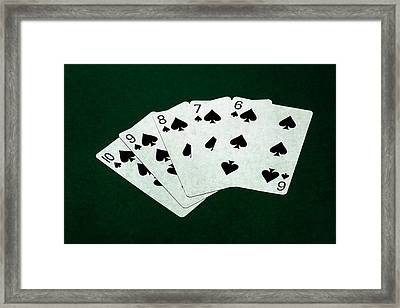 Poker Hands - Straight Flush 1 Framed Print