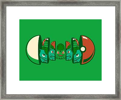 Poketryoshka - Grass Type Framed Print