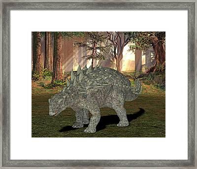 Polacanthus Dinosaur Framed Print by Friedrich Saurer