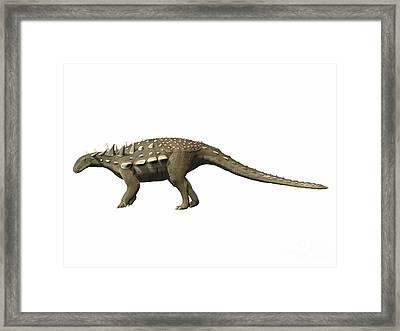 Polacanthus Foxii, Early Cretaceous Framed Print by Nobumichi Tamura