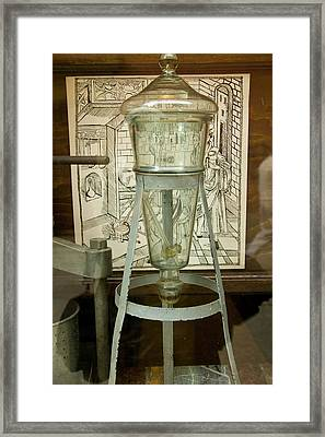 Poland, Gdansk Glass Apothecary Jar Framed Print