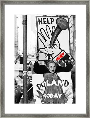 Poland Help Framed Print by Zygmunt Malinowski