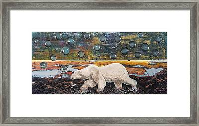 Polar Bear Displacement Replacement Framed Print