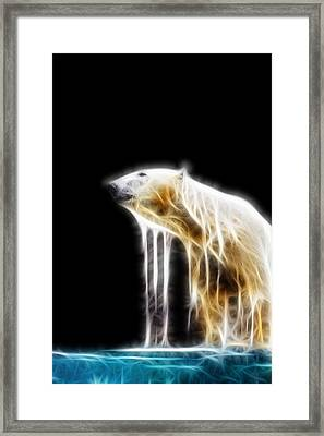 Polar Bear Fractal Framed Print