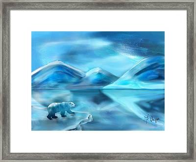 Polar Bear Framed Print by Frank Bright