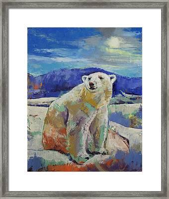 Polar Bear Sun Framed Print by Michael Creese