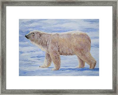 Polar Bear Mini Painting Framed Print by Crista Forest