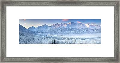 Polar Bear Peak And Eagle Peak Framed Print
