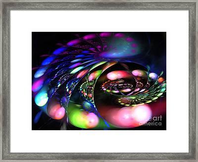 Polar Curve Framed Print by Kim Sy Ok
