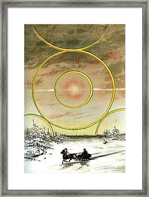 Polar Halo Framed Print by Collection Abecasis