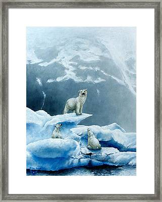 Polar Knowledge Framed Print by Cara Bevan
