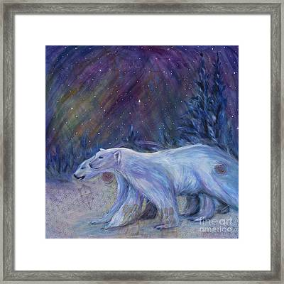 Polaris Framed Print by Angie Bray-Widner