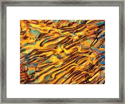Polarised Lm Of Liquid Crystal Framed Print