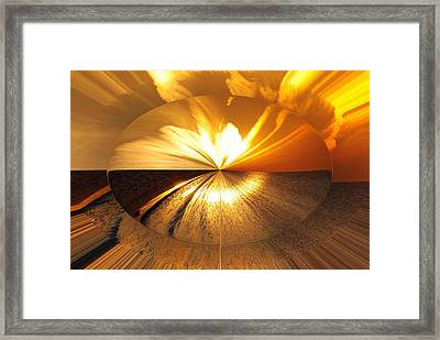 Polarized Sunset Framed Print