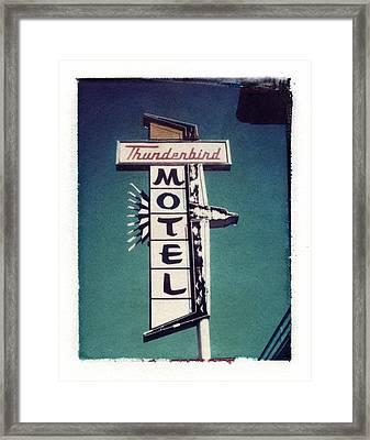 Polaroid Transfer Motel Framed Print by Jane Linders