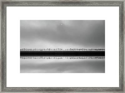 Polderlandscape In Reflection Framed Print