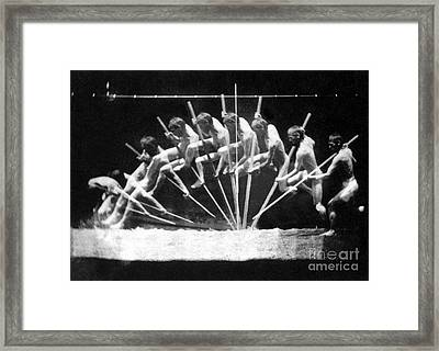 Pole Vault, 1885 Framed Print by Science Source