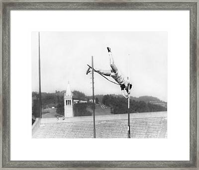 Pole Vaulter Working Out Framed Print