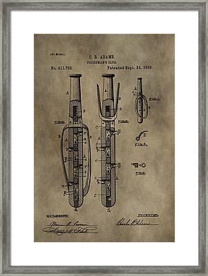 Police Baton Patent Framed Print
