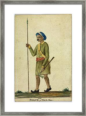 Police Framed Print by British Library