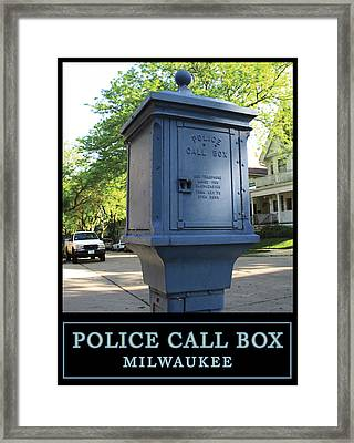Police Call Box Milwaukee Framed Print
