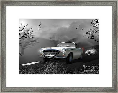 Police Chase 1960's Style Framed Print
