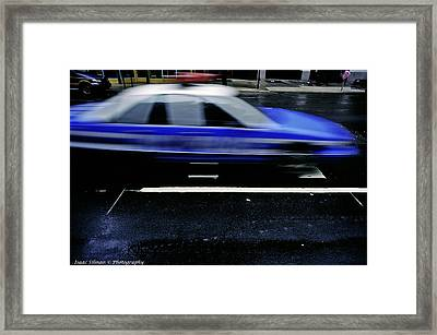 Police Chase Framed Print by Isaac Silman