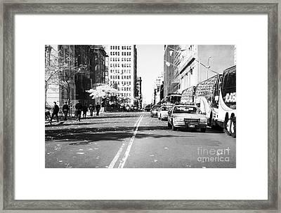 Police Escort 1990s Framed Print by John Rizzuto