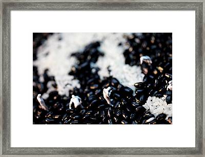 Police Investigating Question Mark On Bean Field Framed Print by Paul Ge