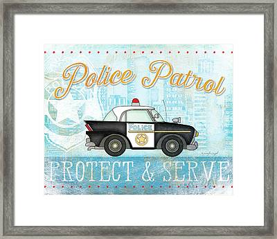 Police Framed Print by Jennifer Pugh