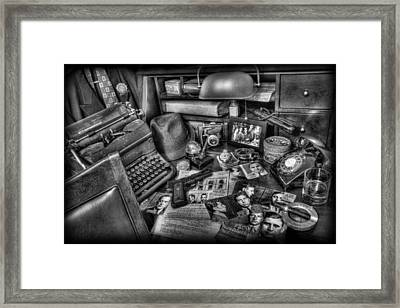 Police Officer - Chasing The American Gangster II Framed Print