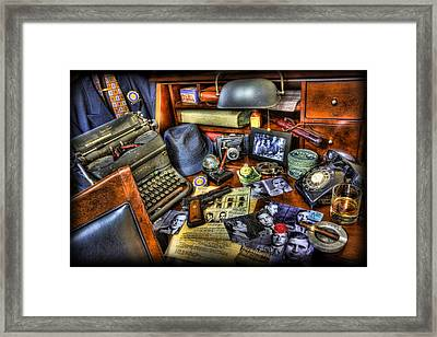 Police Officer - Chasing The American Gangster IIi Framed Print