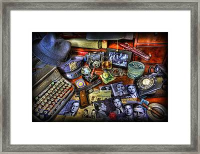 Police Officer - Chasing The American Gangster Framed Print