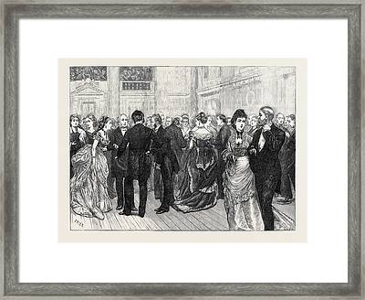 Police Orphanage Ball At The City Terminus Hotel Cannon Framed Print by English School