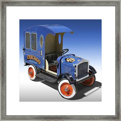 Police Peddle Car Framed Print by Mike McGlothlen