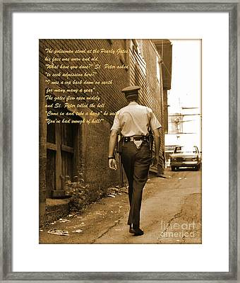 Police Poem Framed Print