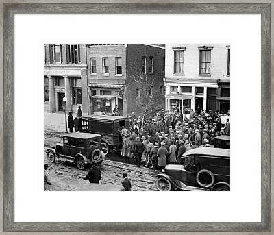 Police Raid, 1925 Framed Print